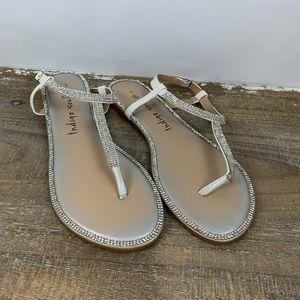 Silver Diamond Sandals